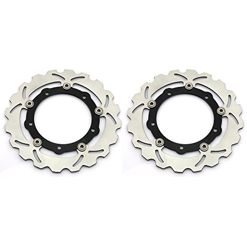 1 Pair Front Brake Rotors for Yamaha T-Max XP 530 2012 2013 2014 2015 YP125R YP250 ABS Sport by TARAZON (Image #4)