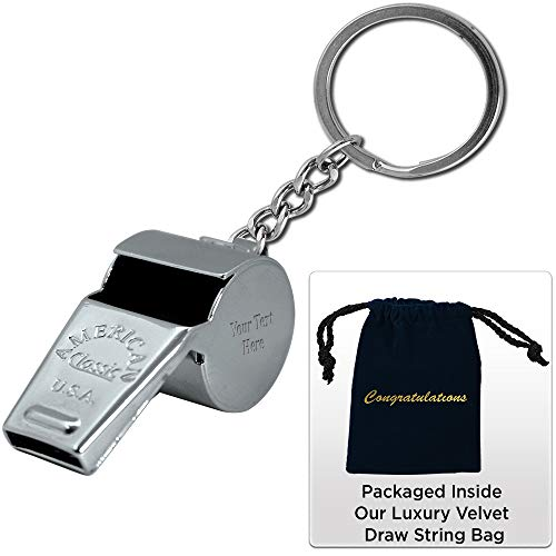Crown Awards Personalized Coaching Gifts, Coachs Whistle Keychain Gift Set with Your Own Engraving, Great Custom Coach Gifts Prime