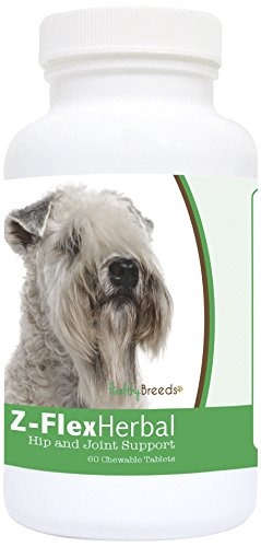 Healthy Breeds Z-Flex Dog Herbal Hip and Joint Support Chews for Soft Coated Wheaten Terrier – Over 80 Breeds – Natural Glucosamine Supplement - 60 Treat Chewables – Helps Pain Relief and Dysplasia