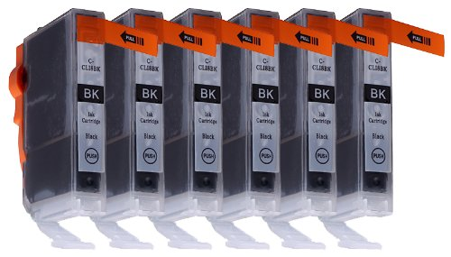6 Pack Compatible Canon CLI-8 6 Small Black for use with Canon PIXMA iP4200, PIXMA iP4300, PIXMA iP4500, PIXMA iP5200, PIXMA iP5200R, PIXMA iP6600D, PIXMA iP6700D, PIXMA MP500, PIXMA MP530, PIXMA MP600, PIXMA MP610, PIXMA MP800, PIXMA MP800R, PIXMA MP810,