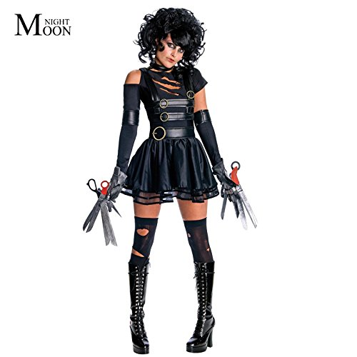 Topry (TM) New Adult Womens Sexy Party Edward Scissorhands Costumes Outfit Halloween Fancy Cosplay (Edward Scissorhands Fancy Dress Costume)