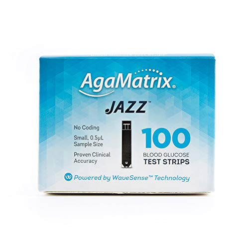 AgaMatrix 100 Piece Jazz Test Strip, 0.1 Pound