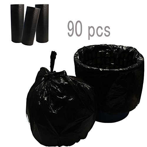 (Lispower Durable Office Garbage Bags Home Trash Bags 4 Gallons 90 Counts(90 count-)