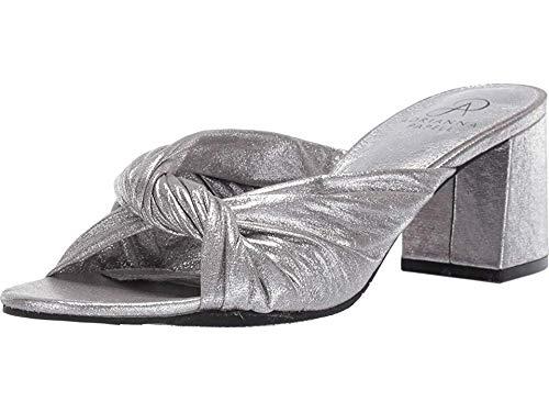 Adrianna Papell Women's ANYA Heeled Sandal, Silver, 7.5 M US