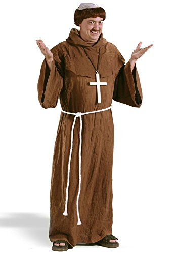 Fun World Costumes Men's Medieval Monk Costume, Brown, One Size Fits Up To 6ft. 200 (Biblical Queen Costumes)