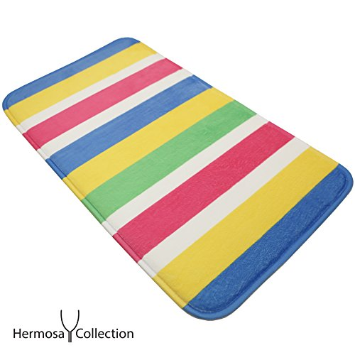 Hermosa Collection Colorful Bathroom Shower Mat by Hermosa Collection