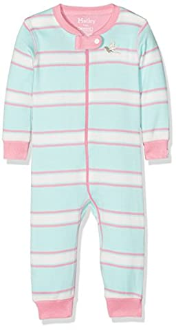 Hatley Baby Toddler Girls' 100% Organic Cotton Sleeper, Pastel Stripe,