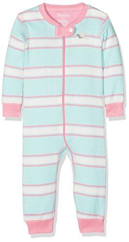 Hatley Baby Girls' Toddler 100% Organic Cotton Sleeper, Pastel Stripe, 0-3M - Hatley Blue Stripes