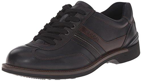 ECCO Fenn, Sneaker a Collo Basso Uomo Nero(black/Black/Coffee 57709)