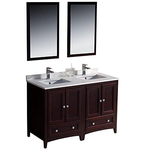 Fresca Bath FVN20-2424MH Oxford Double Vanity Sink, 48