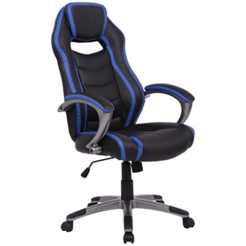 41GyErhKPQL - Giantex-High-Back-Office-Chair-Home-Office-Racing-Car-Style-Bucket-Seat-Executive-Gaming-Chair-w-Swiveling-Casters