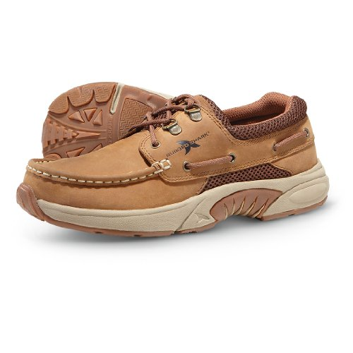 Crazy Rugged Atlantic Men's Shark Shoes Boat Oxford Copper Horse Leather r704qrxw