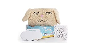 The Dream Pillow Lamby Kids and Toddler Pillow | Soft Plush Pillow for a Better Sleep Routine | Kids Travel Pillow and Toy Cuddling Companion | Pillow, Storybook & 60 Dream Wish Notes Included