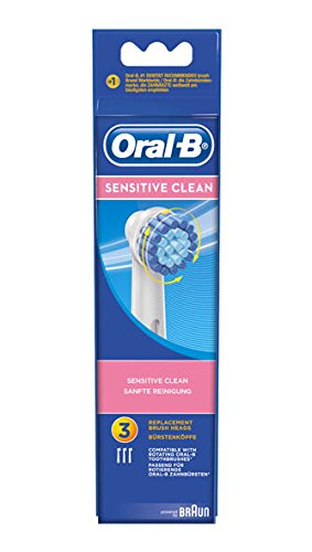 oral b pack de 3 cabezales para cepillos de dientes recargables sensitive clean ebs17. Black Bedroom Furniture Sets. Home Design Ideas