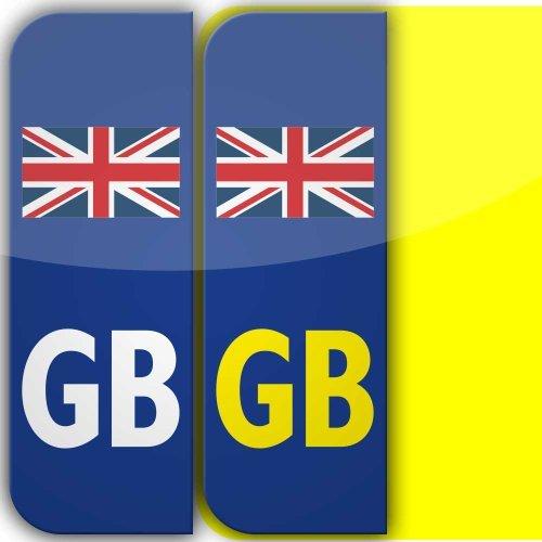 X Union Jack Flag GB Badge Car Number Plate Selfadhesive Vinyl - Vinyl stickers uk