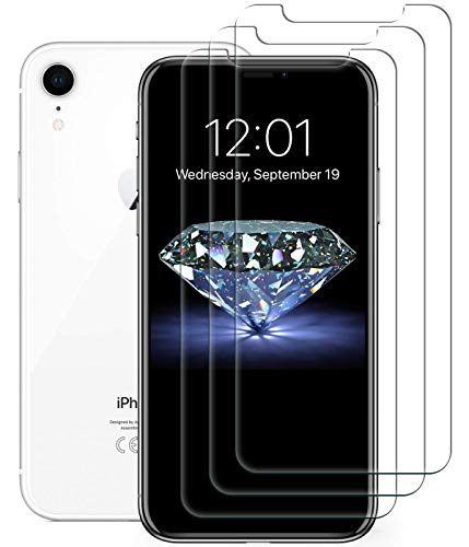Bangbreak Screen Protector Compatible with iPhone XR [3 PACK] Tempered Glass Screen Protector. Crystal Clear 9H hardness 3D Touch Compatible 2018 New iPhone XR Glass Screen Protector