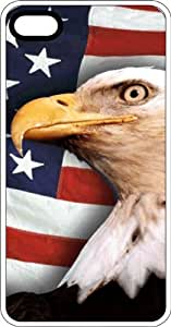 American Flag & Bald Eagle Let Freedom Ring White Rubber Case for Apple iPhone 5c