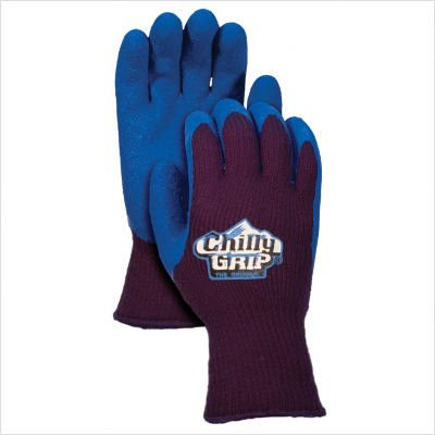 Red Steer Chilly Grip A311 Black/Blue Small Acrylic Full Fingered Work & General Purpose Gloves - Rubber Foam Coating - Rough Finish - A311-S [PRICE is per PAIR]