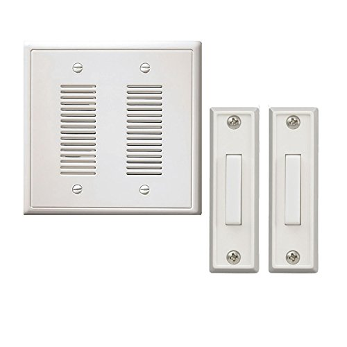 NICOR Wired Door Bell In-Wall Chime Kit - 2 Lighted Buttons - (Original from manufacturer - Bulk Discount available)