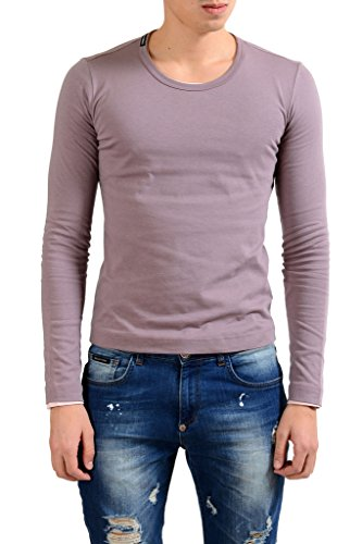 Dolce & Gabbana Men's Crewneck Purple Long Sleeve Reversible T-Shirt US 2XS IT 44;