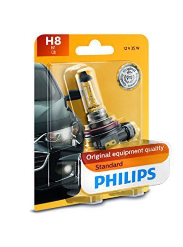 Philips 12360B1 H8 Standard Halogen Replacement Headlight Bulb, 1 Pack