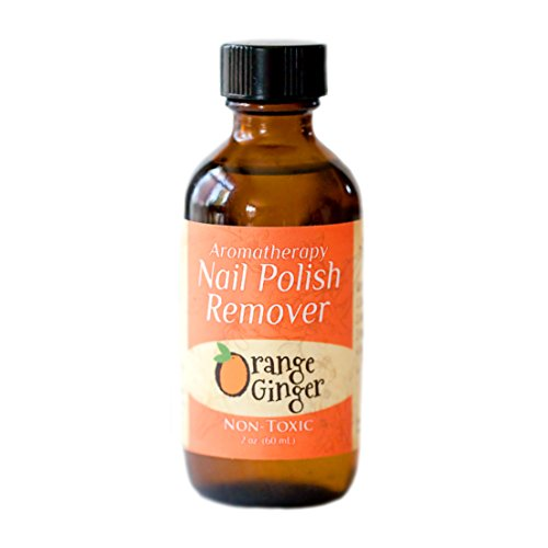 Non-toxic, Natural, Aromatherapy Nail Polish Remover- Orange Ginger (Energy) 2 oz. bottle Natural Look Nail Lacquer