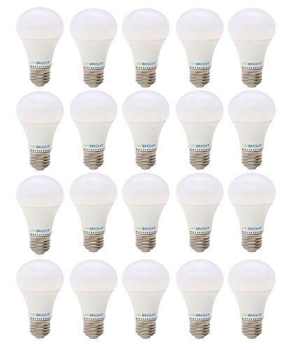 New ViriBright, New Technology! 60 Watt Replacement, Dimmable, A19, LED Light Bulb (24 pack), E26 Edison Base, Warm White (Soft White), 90+ CRI, Maximum Energy Saving, Super Value Pack