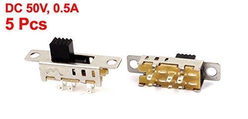 eDealMax 5 Pcs 6 Botones Off/ON / ON DPDT Panel Horizontal interruptor deslizante miniatura: Amazon.com: Industrial & Scientific