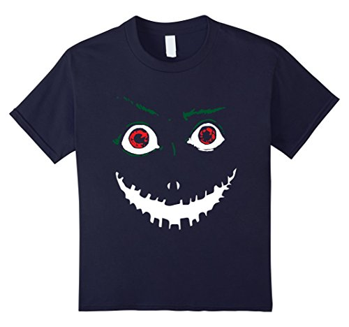 [Kids Cute & Scary Pumpkin Halloween T Shirt Costume Kids 12 Navy] (Last Minute Halloween Costumes For Plus Size Women)