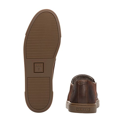 Leather Slip Frye Cognac Women's Oiled Vintage Gemma Sneaker Fashion Suede Shearling Soft gqBaqx