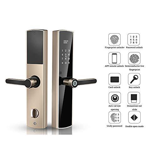 Smart Lock, 6 Ways to Unlock, Fully Automatic Digital Keypad Lock Biometric Fingerprint Electronic Locks, Home Security Door Lock (Left)