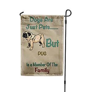 Perros Solo mascotas pero diseño de CARLINO miembro de familia Patio Patio Casa Banner bandera de Jardín
