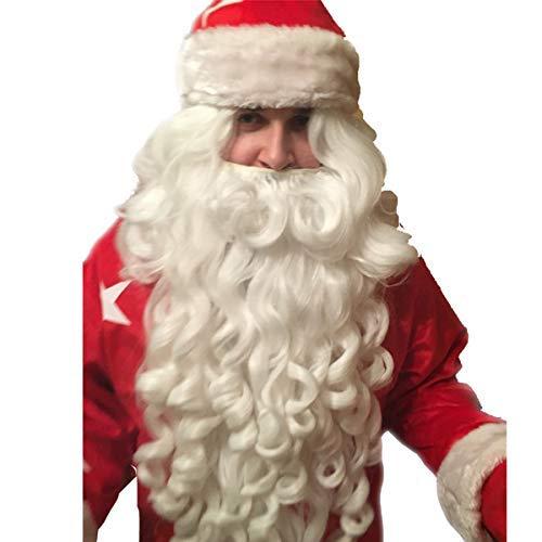 【おしゃれ】 ARHSSZY Adult Deluxe White White B07N4NRKJ3 Long Set Wavy Santa Claus Wig and Beard Set Synethic wig [並行輸入品] B07N4NRKJ3, きどーるBy質タケイ:28c35cac --- a0267596.xsph.ru