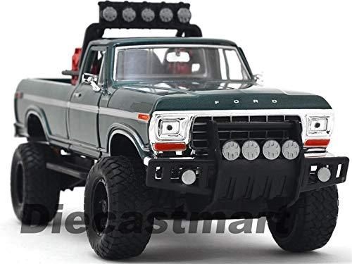 BDCAT MOTORMAX 79138 Off Road Custom 1979 Ford F-150 Pick up Truck 1:24 DIECAST Green