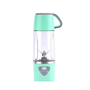 Batidoras de Vaso Individuales, 600ML Mini Licuadora Eléctrica, Recargable Juice Blender con USB,