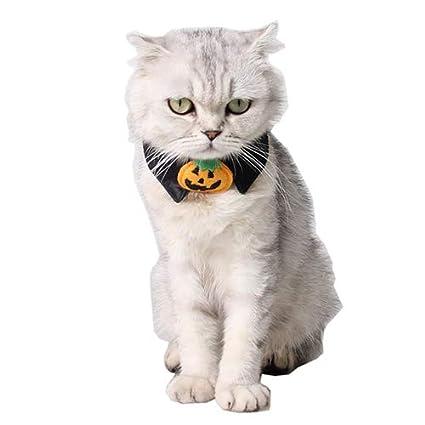 QNMM Suministros para Mascotas De Halloween Perros Truco O Golosinas Collar Falso Accesorios para Gatos Collar