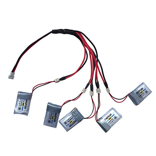 Alonea 3.7V 150mAh Li-Polymer Battery +A special line five For JJRC H20 RC Quadcopter (As picture)