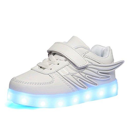 LASYMIE ,  Unisex Kinder Sneaker Low-Tops , Weiß - weiß - Größe: 27 EU