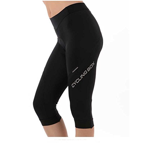 Women's 6D Padded Classic Bib Cycling Tights Black CYCLINGBOX
