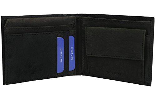 Wallet man VA2032 ANTONIO with black BASILE and coin purse flap rdrzwqfZxn