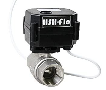 "HSH-Flo 9-24VAC/DC CR-04 FNPT SS304 Two Wires Auto Return When Power Off Motorized Electrical Ball Valve (3/4"" DN20)"