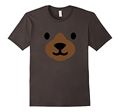 Bear Face Halloween Costume Shirt Funny Easy for Kids Adults