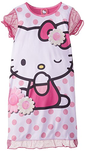 - Hello Kitty Big Girls' Polka Dots and Daisies Nightgown, Multi, 8