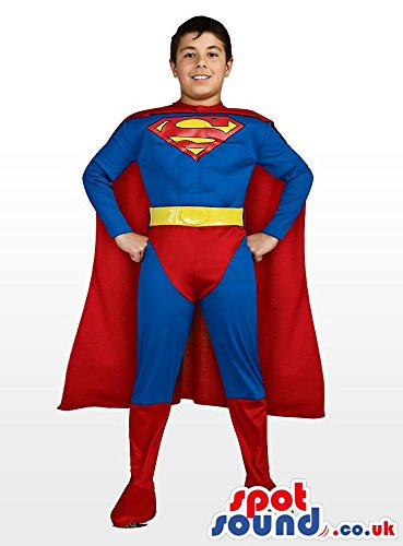 amazon com cool and strong superman children size plush costume
