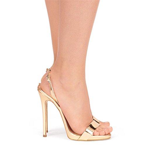 Gold Classique A Peep Femmes CLOVER Talons Sexy Cour Pompe 41 Sandales EU38 Chaussures Stiletto Talon Toe EU38 Dames Hauts Chaussures LUCKY BCwHzqC