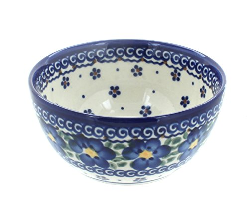 OKSLO Polish pottery spring blossom dessert bowl