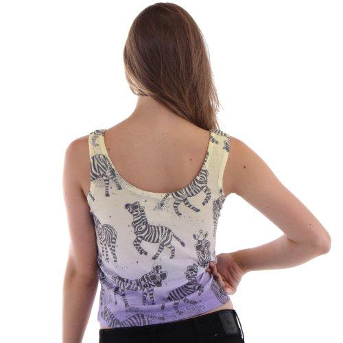 Understar - Animal Print Tank Top Donna Yellow L