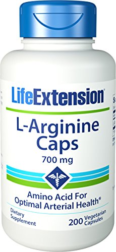 Life Extension Arginine Capsules, 700 mg, 200 comte