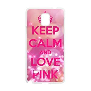 Diy Love Pink Colorful Custom Cover Phone Case for samsung galaxy note 4 White Shell Phone [Pattern-5]