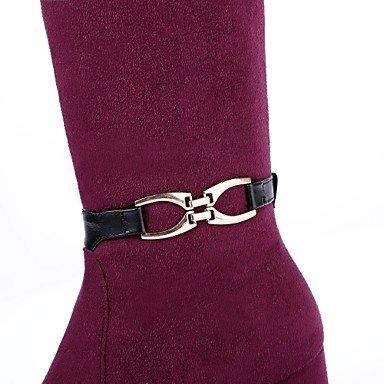 Comfort Winter Chaussures Bottes Violet Fall Elektronen Bureau amp; Bout Pour Femme Chunky synchrotron Deutsches Extérieur Boucle Rond Noir Bleu Talon Flocage Carrière RAtw08Ytq
